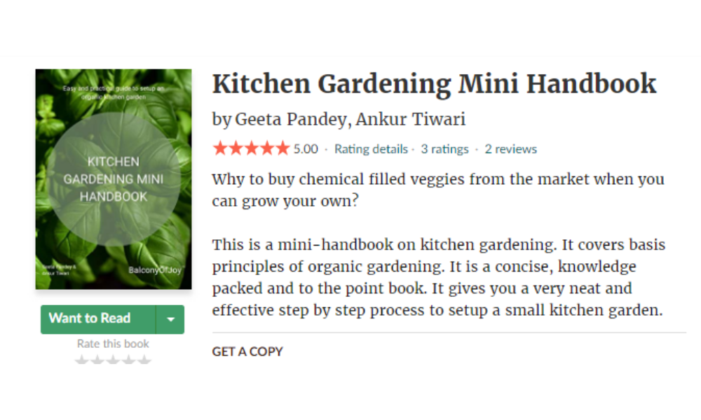 Kitchen Gardening Mini Handbook Reviews