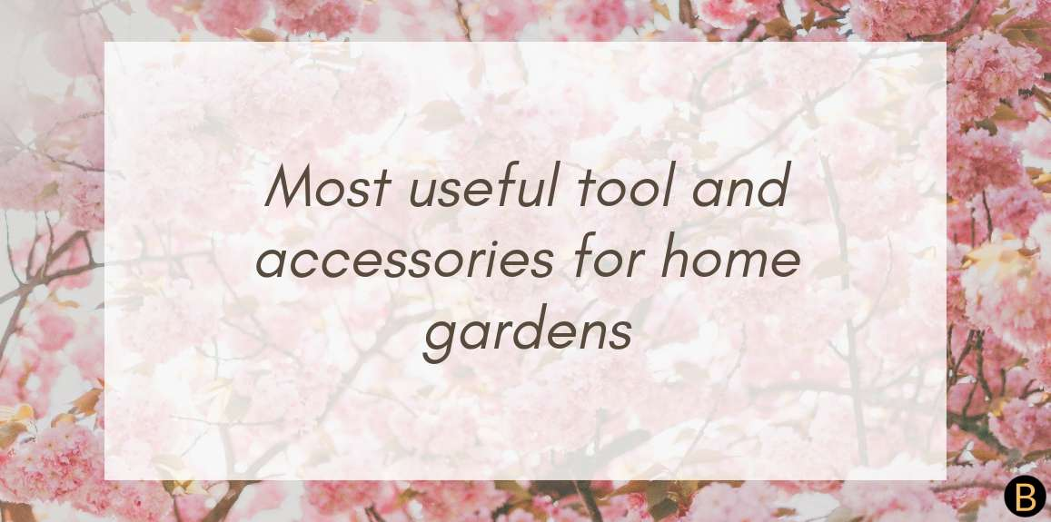 Tools and accessories every home gardener should have