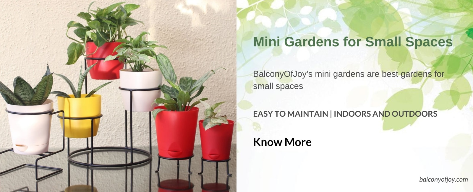 Mini garden for small spaces like balconies and indoors by BalconyOfJoy