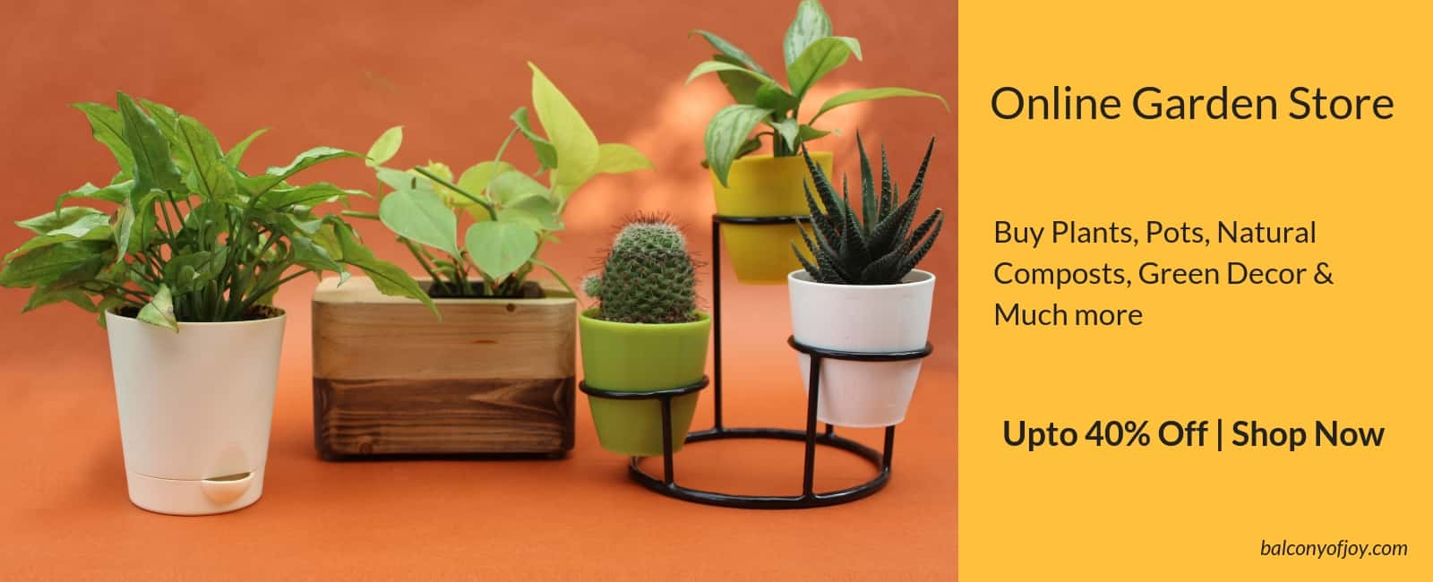 Online urban gardening store, buy plants, pots and much more
